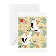 Soaring Cranes - Greeting Card