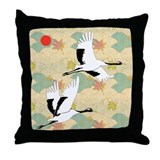 Soaring Cranes - Throw Pillow