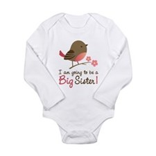 Big Sister to be - Mod Bird Body Suit