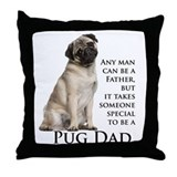 Pug Dad Throw Pillow
