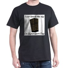 Skyscrapers Day Black T-Shirt