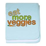 Eat More Veggies baby blanket