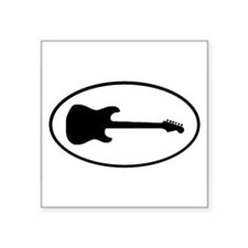 Guitar Shadow Oval Sticker