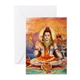Lord Shiva Meditating Greeting Cards (Pk of 20)