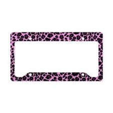 Purple Leopard Print License Plate Holder