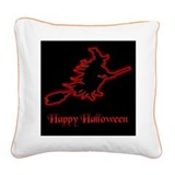 Red Witch Square Canvas Pillow