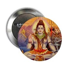 "Lord Shiva Meditating 2.25"" Button"