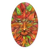 Autumn Greenman 2 Oval Bumper Stickers