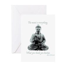 Buddha quote : Mind is Everything Greeting Card