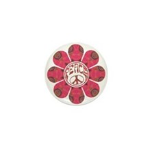Peace Flower - Affection Mini Button (10 pack)