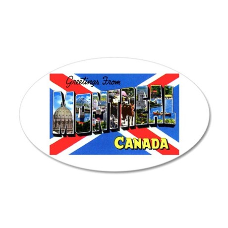 Montreal Quebec Canada 20x12 Oval Wall Decal