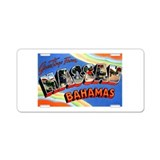 Nassau Bahamas Greetings Aluminum License Plate