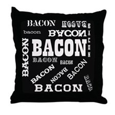 Bacon Bacon Bacon Throw Pillow