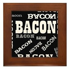 Bacon Bacon Bacon Framed Tile
