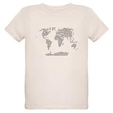 Word Map Organic Kids T-Shirt