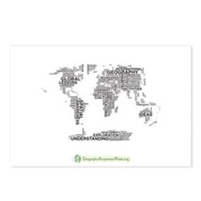 Word Map Postcards (Package of 8)
