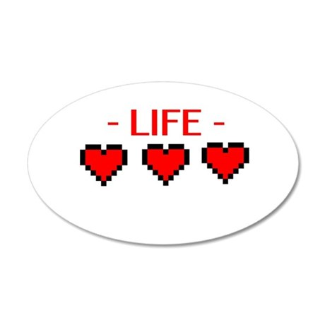 Life Hearts 35x21 Oval Wall Decal