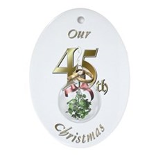 45th Christmas Porcelain, Ornament (Oval)