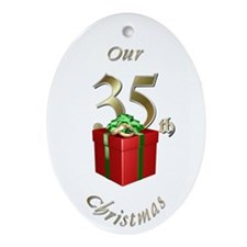 35th Christmas Porcelain, Ornament (Oval)
