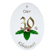 30th Christmas Porcelain, Ornament (Oval)