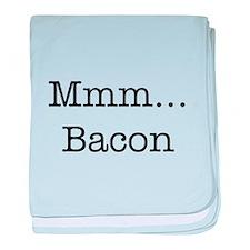 Mmm ... Bacon baby blanket