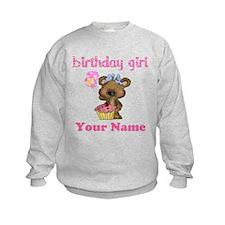 Birthday Girl Bear Sweatshirt