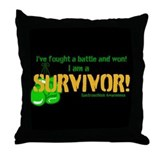 Unique I am survivor Throw Pillow