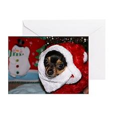 Chihuahua Santa Greeting Cards (Pk of 20)
