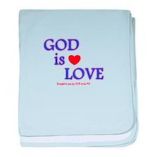 GOD IS LOVE baby blanket