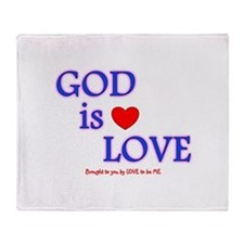 GOD IS LOVE Throw Blanket