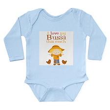 Scarecrow I Love Busia Long Sleeve Infant Bodysuit