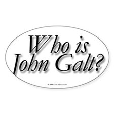 Who is John Galt Rectangle Decal