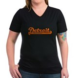 Detroit Baseball Script T-Shirt