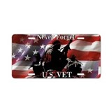 Never Forget U.S. VET Aluminum License Plate