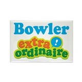 Bowler Extraordinaire Rectangle Magnet