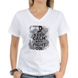 Melanoma Keep Calm Fight On Shirt