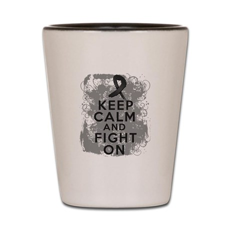 Melanoma Keep Calm Fight On Shot Glass