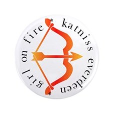 "Cute Katniss everdeen 3.5"" Button"