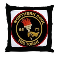 Northern Soul The Torch Throw Pillow