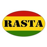 Rasta Reggae Colours Decal