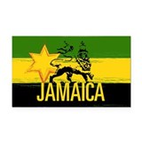Jamaican Flag Rectangle Car Magnet
