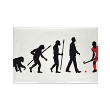evolution fieldhockey player Rectangle Magnet