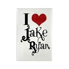 I love Jake Ryan Rectangle Magnet