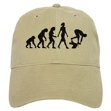 evolution female swimmer on startblock Baseball Cap