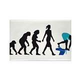 evolution female swimmer on startblock Rectangle M