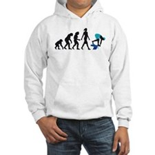 evolution female swimmer on startblock Jumper Hoody