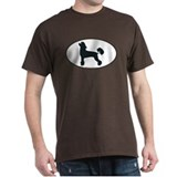 Chinese Crested Silhouette Black T-Shirt