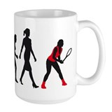 evolution female tennis player Coffee Mug