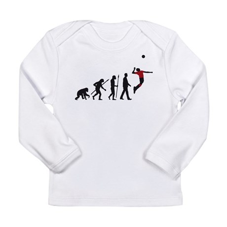evolution volleyball player Long Sleeve Infant T-S