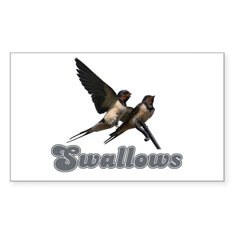 Swallows Rectangle Sticker